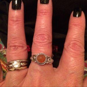 Jewelry - 🔥 Beautiful Natural Carnelian Sterling Ring 🔥🔥